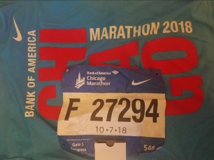 Race bib Chicago Marathon