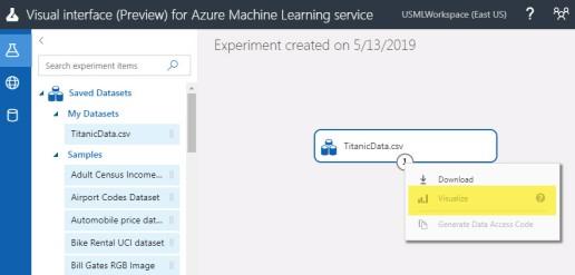 Azure Machine Learning Service Visual Interface vs Azure