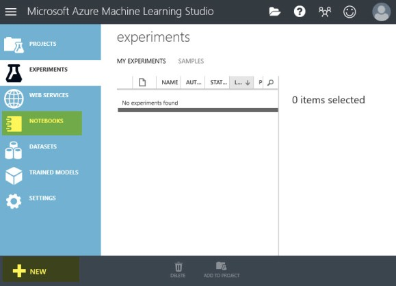 Home Page Azure Machine Learning Studio